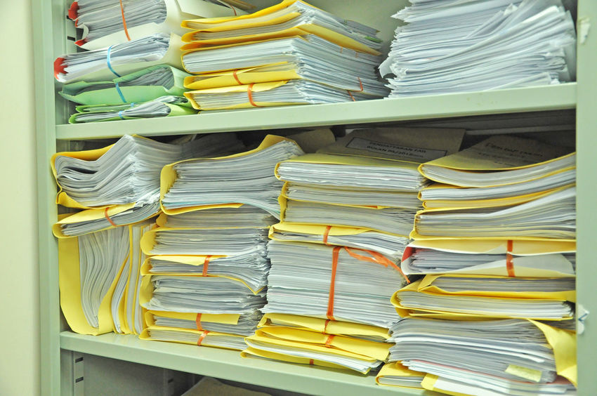file folders stack in the rack A4 Antique Archives Bureaucracy Data Documents File Finance Folder Form Full Frame Information Mess Messy Note Old Outdated Papers Paperwork Pile Research Stacked Stationary Stored Yellowed