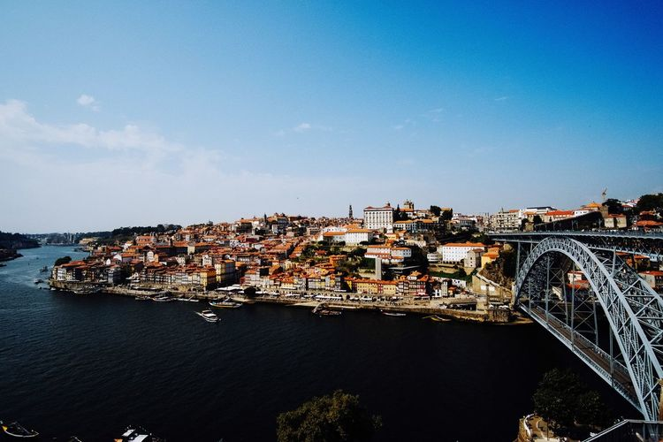 The beautiful Porto ! Architecture View City View  Bridge Panorama cityscapes Cityscape City Porto Building Exterior Architecture Built Structure Sky City No People Cityscape Nature High Angle View Water Building Dusk Residential District Outdoors Blue Day Illuminated