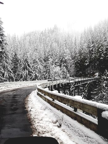 Winter Wondeland Bridge Winter Winter Wonderland Nature Snow Outdoors Cold Temperature Day No People Winter Beauty In Nature