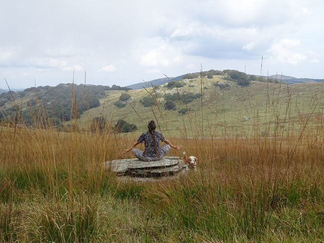 Yoga In Nature Yoga Relax Relaxing Mountain Tradition Sky Landscape