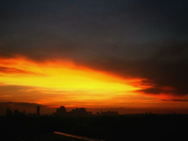 Even with the threat of dark clouds, my western skies still burn! Totally Worth It Sunset Clouds And Sky Darkness And Light Clouds Feeling Thankful EyeEm Nature Lover Landscape Eyeem Philippines EyeEm Best Shots