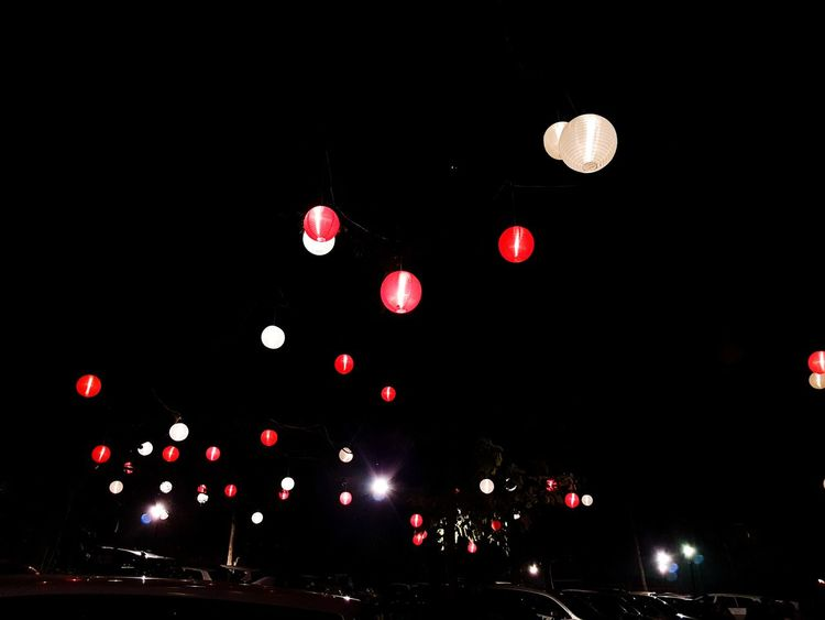 Lights In The Dark Night Sky Outdoors Lights In The City Lightbulb Lamp Light Hanging Lights Partydecorations Adapted To The City