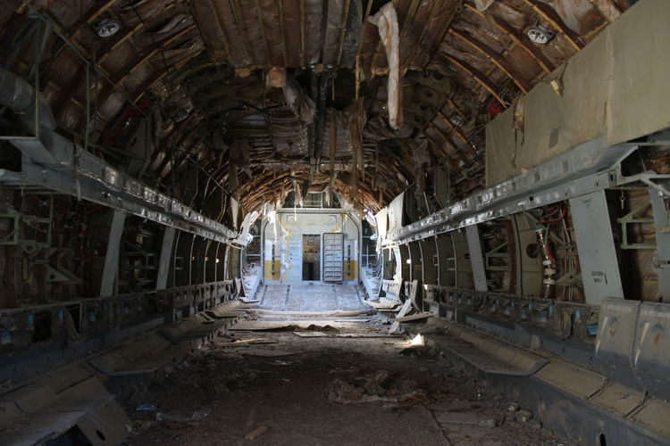 Indoors  Abandoned Spooky Obsolete No People Architecture Day Airplane Empty