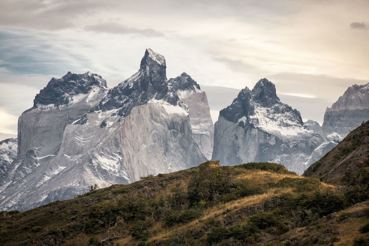 Chile Cloud - Sky Environment Formation Height High Horizon Landscape Mountain Mountain Peak Nature Outdoors Patagonia Range Rock Scenery Sky Snow Steep Torres Del Paine Urban Skyline Wallpaper Wilderness The Great Outdoors - 2018 EyeEm Awards