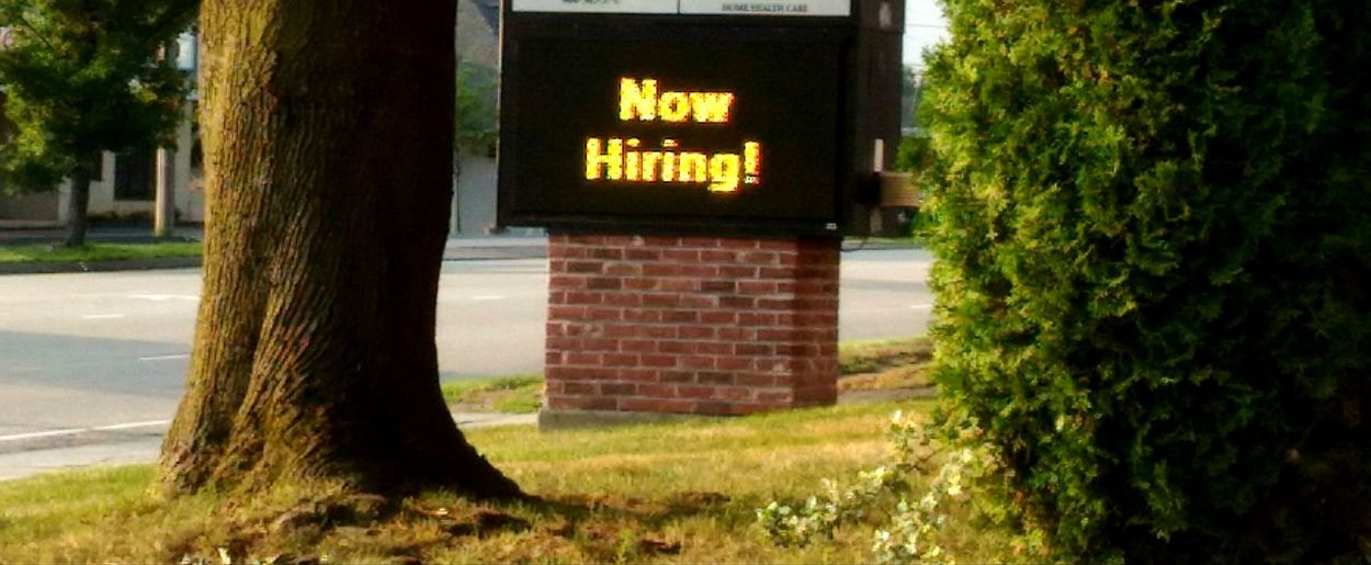 Now Hiring sign. Hiring Now Hiring Sign Hiring Sign Hiringnow Electronic Sign Employment Seeking Workers