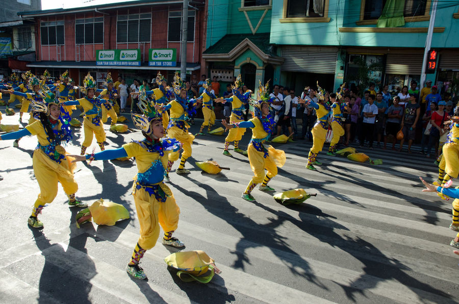 Parade dancers of the Bangus Festival 2017. Bangus DAGUPAN CITY Dance Festival Large Group Of People Milkfish Pangasinan People Philippines Shadow Summer Sunlight Uniform