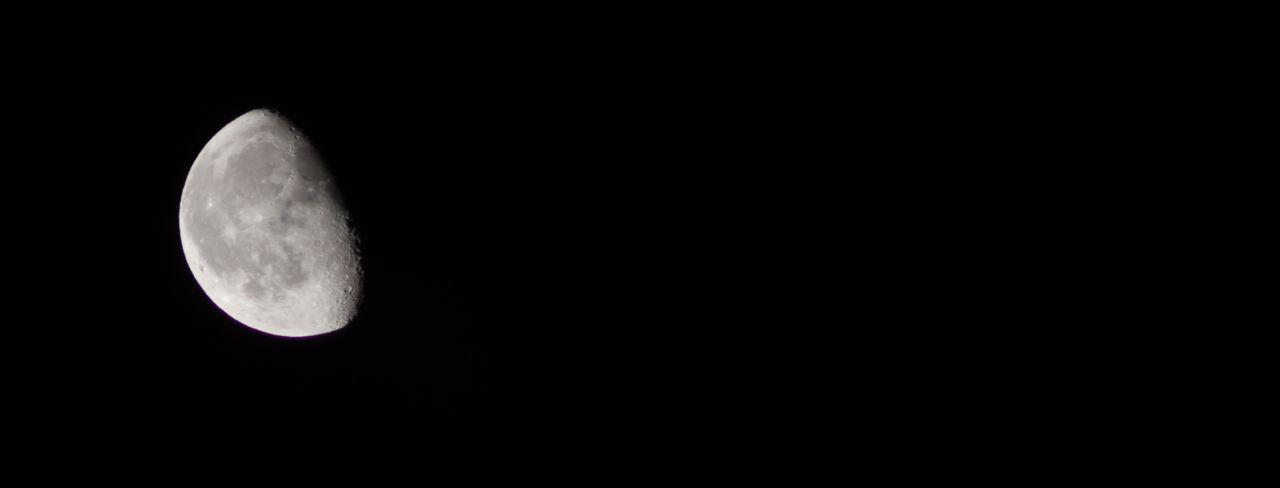 Luna Astronomy Black Background Blackandwhite Close-up Half Luna Moon Moonlight Night Nightphotography