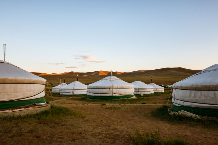 In a tourist camp of mongolia