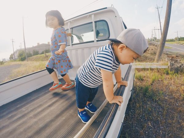 Sunset Sunset_collection Hello My Baby Gopro Goprojp Childhood Striped Mother Togetherness Boys Child Casual Clothing Family With One Child Elementary Age Full Length Lifestyles Mature Adult Day Girls Son Daughter VSCO Vscocam Vscogood