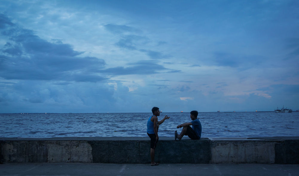 Confidante Bromance Manila Manila, Philippines Beach Beauty In Nature Cloud - Sky Day Friendship Full Length Horizon Over Water Leisure Activity Love Men Nature Outdoors People Real People Rear View Scenics Sea Sky Standing Togetherness Two People Water