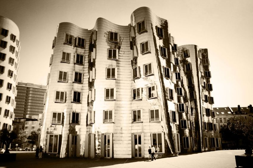 Architecture Building Exterior City Life Düsseldorf Hafen Foto Art Gehry Buildings Glas Modern Outdoors Place To Be  Urban