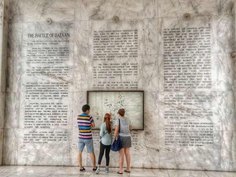 The Battle of Bataan World war 2 Wall - Building Feature Built Structure EyeEm Best Shots EyeEmNewHere EyeEmBestPics Historical Place