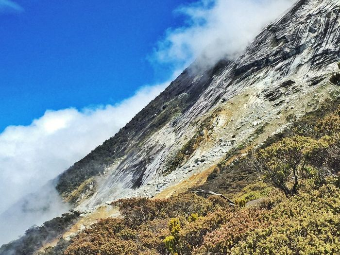 Mountain shrouded by cloud Mount Kinabalu Sabah Cloud Mountain Hot Spring Power In Nature Water Erupting Motion Steam Spraying Smoke - Physical Structure Sky Volcanic Landscape Volcano Physical Geography EyeEmNewHere The Great Outdoors - 2018 EyeEm Awards