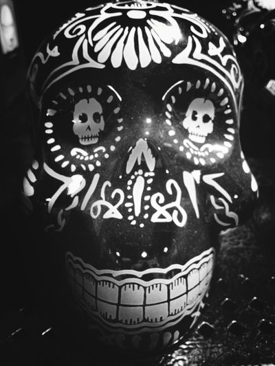 Blackandwhite Black And White Treasure Hunting Skull