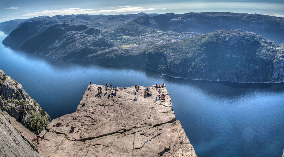 Aerial View Coastline Day Fjord Glacier Mountain Nautical Vessel Norway Outdoors Panorama People Scenics Sea Vacations Water