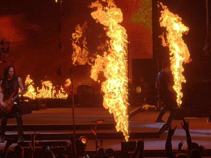 Disturbed Concert Fireball Flame Heat - Temperature Burning RISK Inferno Danger Performing Arts Event Glowing Entertainment