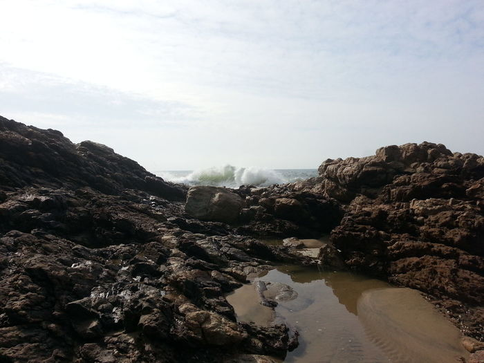 Colour Of Life Taking Photos Blue Sky Waves And Rocks Sea Rocks Rocks And Water Sea_collection South Africa Beautiful ♥ Standing On The Rocks This Morning Just Watching The Beautiful Water And Waves.