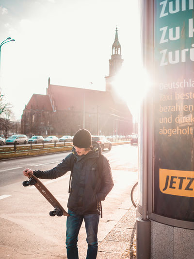 Alexanderplatz Berlin Skateboarding Architecture Building Exterior Built Structure Casual Clothing City Day Incidental People Lens Flare Lifestyles Men Mode Of Transportation Nature One Person Outdoors Real People Road Skate Sky Standing Street Sunlight Transportation