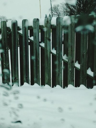 Snow Winter Cold Fence Texture Nature Beautiful Trees Sky Watsr Droplets Ice