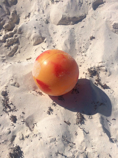 Ball Beach Close-up Healthy Lifestyle Holiday Holidays Mexico Nature No People Outdoors Peach Sand Shadow Sports StillLifePhotography Summer Tulum Tulum Beach Art Is Everywhere Be. Ready. This Is Latin America