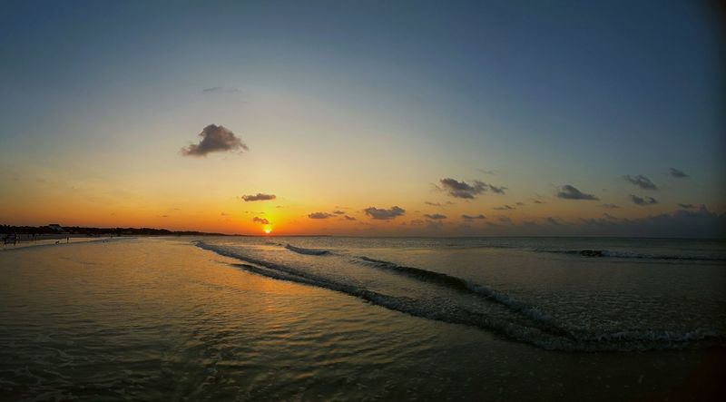 City of Salinópolis, Atalaia Beach, State of Pará, Amazon, Brazil. Sunset Sea Water Beach Reflection Tranquility Sun