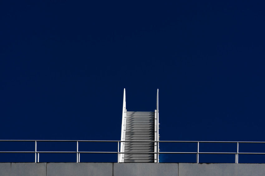 Berlin Architecture Architecture Blue Built Structure Clear Sky Copy Space Day No People Outdoors Railing Sky