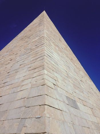 Pyramid in Rome - Traveling Walking Around Happy Crazy Things Blue Sky Enjoying Life