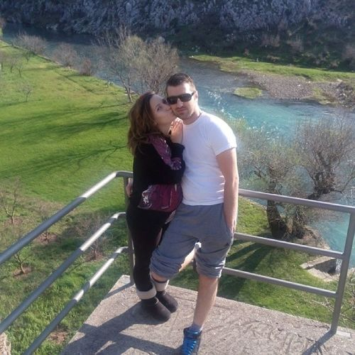 With my Beautiful Wife in Blagaj :D Love forever life cool fun instagood travel Bosnia & Herzegowina nature river gonewild hot cute style fashion stylish shades sneakers nike like follow followme comment