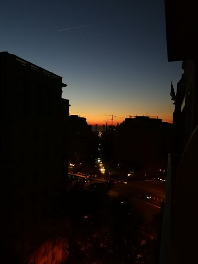 Night Architecture Built Structure Sunset Travel Destinations No People Sky Outdoors Illuminated Building Exterior City Tree Astronomy Barcelona Sunrise