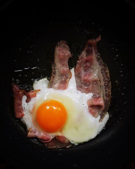Egg Bacon And Eggs Egg Yolk Frypan Fried Egg