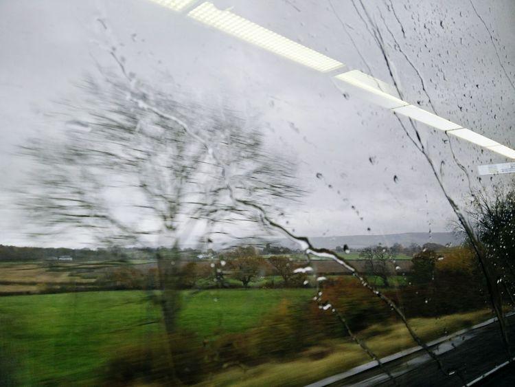 Rainy Day Rain On Window Train Window Autumn Beauty Herbstwetter Regen Fenster Zugfenster Verregneter Tag