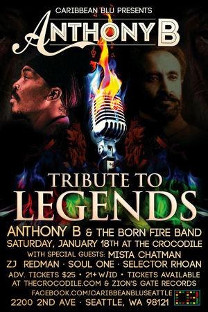 Club Flyers Concert Reggae Mista Chatman opening for Jamaican Reggae star Anthony B