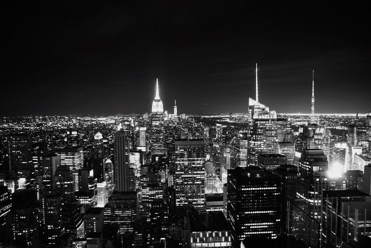 Cityscapes New York New York City Skyline City Check This Out Night Lights Blackandwhite Black And White Black & White Bandw B&w Cities At Night