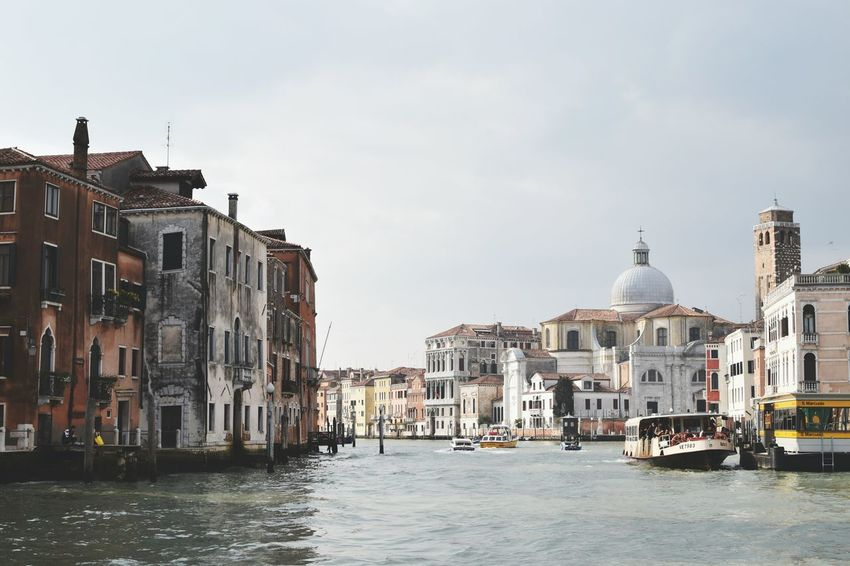 Landscapes With WhiteWall Cityscape and waterfront. Venice City Cityscapes Waterfront Old Houses Ancient City Impressive View Church Dome Canal Grande Italy View From Water Check This Out Discovering Places Symmetry My Year My View The Architect - 2017 EyeEm Awards