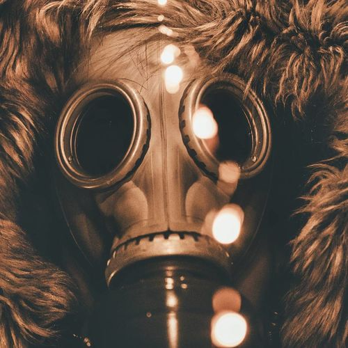 Close-Up Of Gas Mask