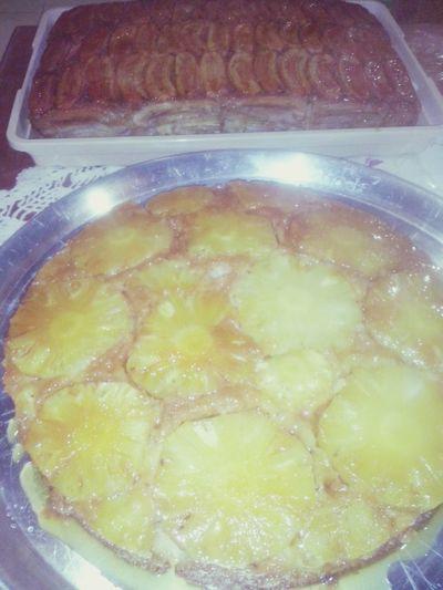 bolo de abacaxi e banana....