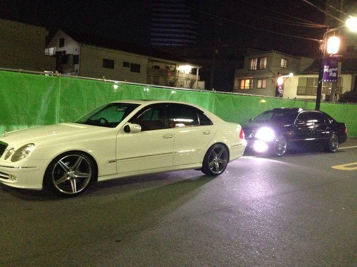 怪しい車が2台(笑)wベンツは家の車でセルシオは次女夫婦の~(。^。^。)