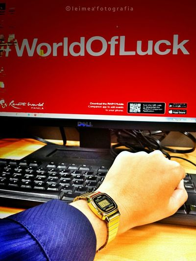 At the World of Luck. Atwork BuhayIT Worldofluck Goodluckplease Casiovintagewatch Androidography Photography Snap_edits Leimeafotografia EyeemPhilippines