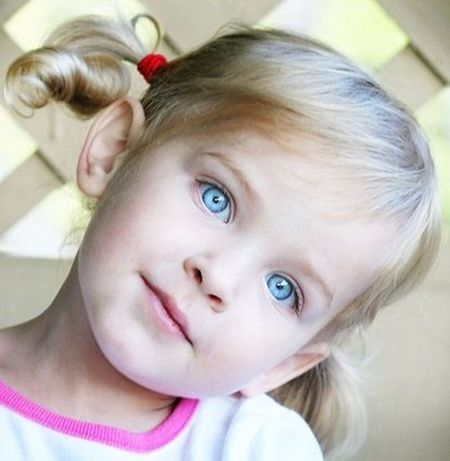 Blond Hair Blue Eyes Child Childhood Children Only Close-up Cute Girls Headshot Looking At Camera One Person People
