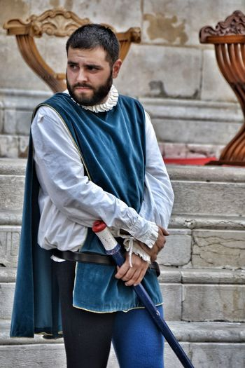 One Man Only Beard Adult City Outdoors Portrait Lifestyle Corteo Storico Hystorical Arts Culture And Entertainment Camouflage Clothing Travel Destinations Sulmona Giostra Cavalleresca Sulmona Investing In Quality Of Life