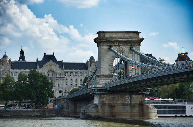 Selected For Partner Budapest, Hungary Hungary🇭🇺 Széchenyi Chain Bridge Danube In Budapest City Cityscape Water Bridge - Man Made Structure River Sky Architecture Built Structure Chain Bridge Postcard Arch Bridge Cable-stayed Bridge Engineering Bridge Hungarian Culture Budapest Urban Skyline
