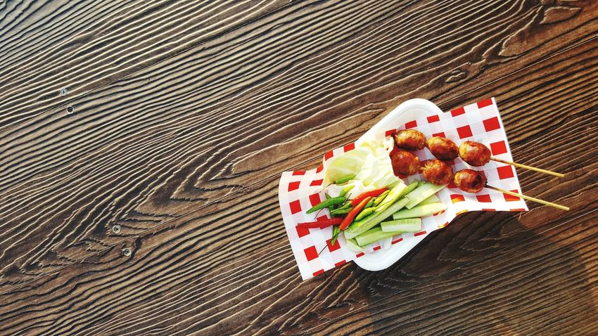 Thai Food Thailand Esan Food Cultures Thai Sausage Sausage Spicy Food Chilli Wood Table Wallpaper Food And Drink Food High Angle View Table No People Sweet Food Wood - Material Indulgence Ready-to-eat Indoors  Freshness Temptation Close-up