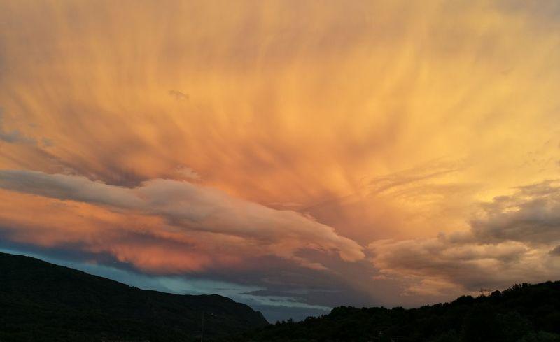 Mountain Sunset Forest Dramatic Sky Storm Cloud Sky Landscape Cloud - Sky