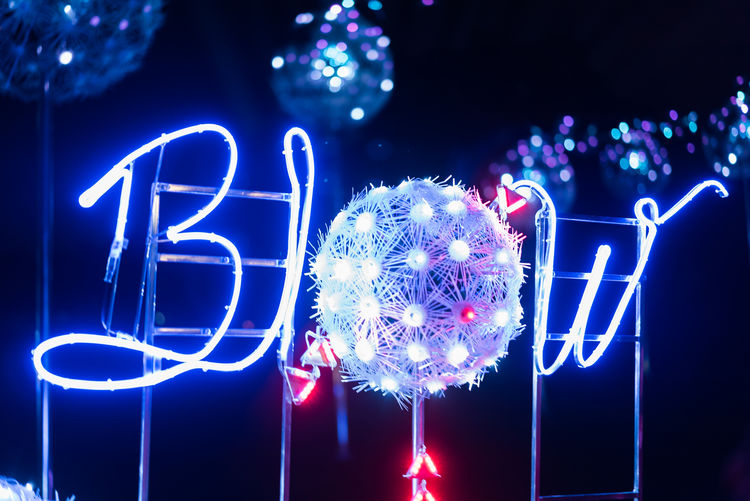 Blue Close-up Communication Illuminated Lighting Equipment Neon Night No People Outdoors
