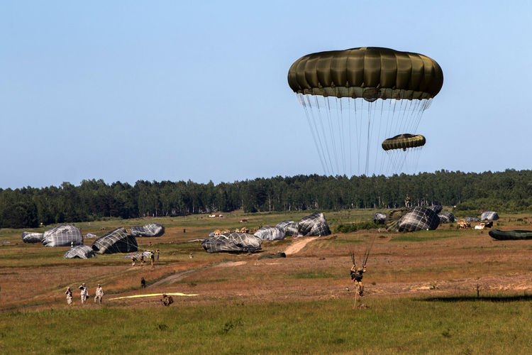 Military Military Exercises Military Life NATO Outdoors Parachute Paratroopers Soldiers