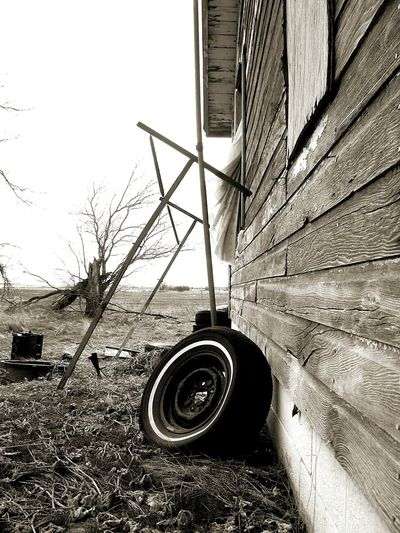 Tire Abandoned Places House Clothesline No People Curiosity Gone But Not Forgotten Gone