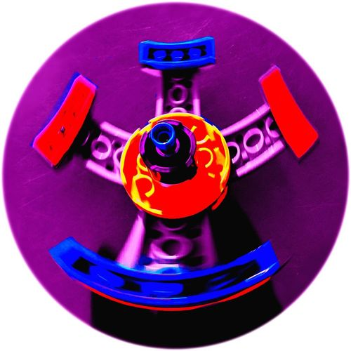 Play Spin LEGO Multicoloured Multicolored Multicolour Multicolor Red Blue Purple Pink Yellow Construction Toy Toys Recreation  Create Creativity Creation Past Time Past Times  Retro Heavily Filtered Bright Bright Colors Framed Layers No People White Background Close-up Day