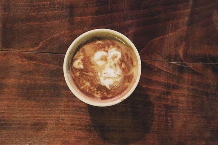 Coffeekesh-My Work Coffeekesh Dadbeh Konjcafe Monkey Cafe Coffee Latte Latteart Art ArtWork Sketch Painting Espresso