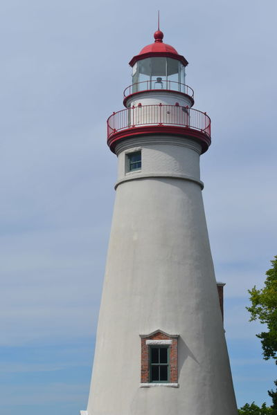 Marblehead Marblehead Lighthouse Marblehead, OH Lighthouse Architecture Building Exterior Built Structure Day Lighthouse Low Angle View No People Ohio Outdoors Sky