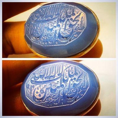انگشتری عقیق لا اله الا الله ملک الحق المبین